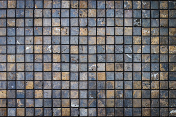 Abstract of mosaic wall tile background and texture
