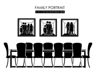 family portrait, design, vector illustration