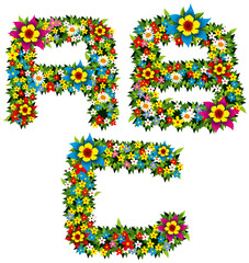 Flower and bush letters