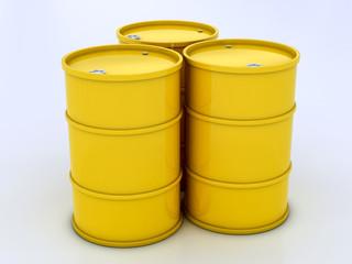 сhemical yellow barrels