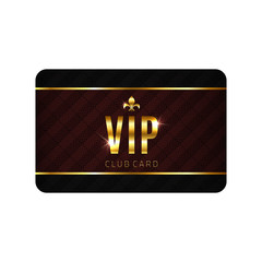 VIP card template. Vector illustration