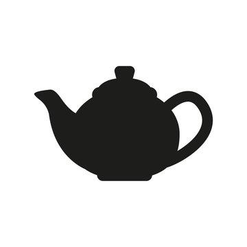 The teapot icon. Tea symbol. Flat