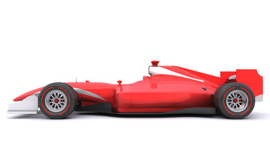 Acrylic Prints F1 Formula race red car. Side view