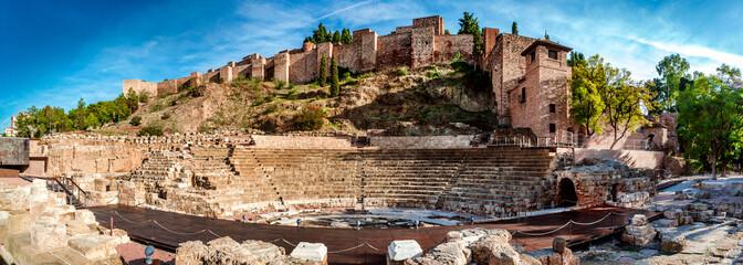 Roman Theatre in Malaga. Andalusia, Spain
