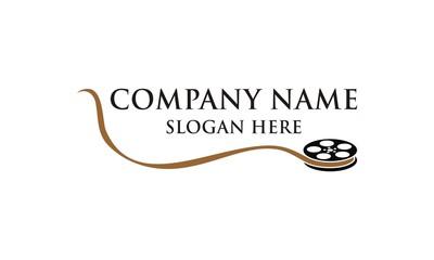 Film Roll Cinema Icon Logo Vector