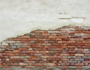 Empty space at brick wall