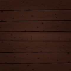 Brown wood planks texture. Vector illustration