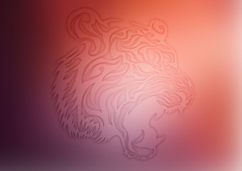 Tattoo tiger face background