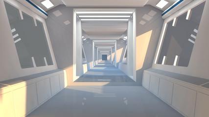 Futuristic Scifi interior architecture