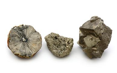 Pyrit in verschiedenen Formen