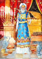"""Watercolor sketch of series """"Characters of ancient Palestine"""""""