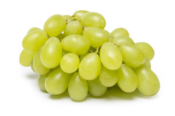 grapes on white