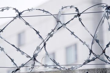 Closeup barbed wire
