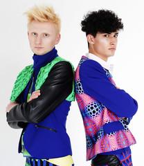 two fashion models