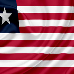 Liberia waving flag