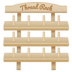 Wood Thread Rack, sew, tailor, quilt, embroider, DIY crafts