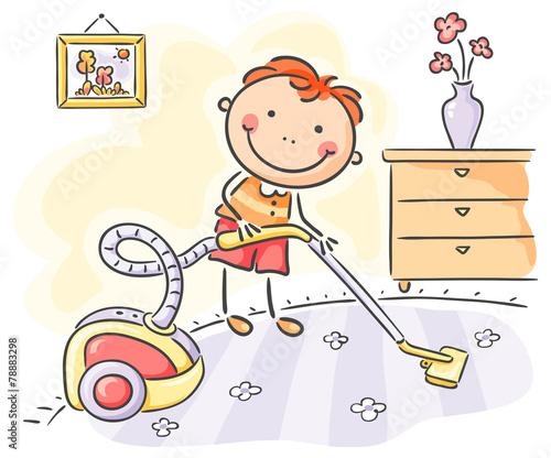 Рисунок для мальчика помогаю маме