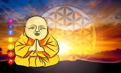 Meditation relax cartoon