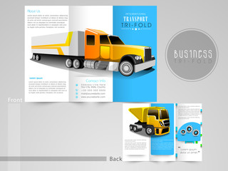 Stylish Tri-Fold brochure or flyer for transport business.
