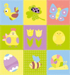 easter patchwork for children / vectors