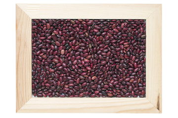 framed red kidney beans