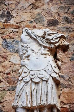 Escultura romana toracata, Teatro romano, Mérida, España