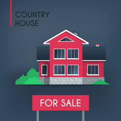 Pink country house