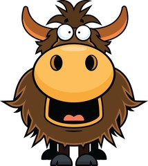 Cartoon Yak Happy