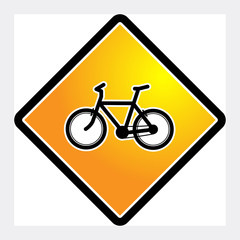 Bicycle sign, vector
