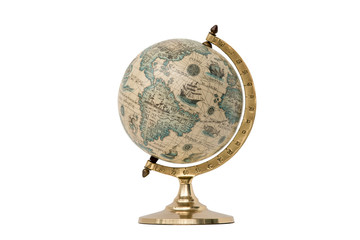 Fototapeten Südamerikanisches Land Old Style World Globe - Isolated on White