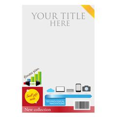 magazine brochure template vector illustration