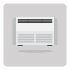 Vector of flat icon, air conditioner on isolated background