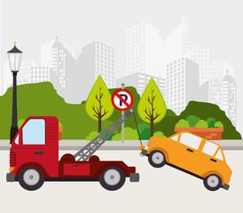 Transport design, vector illustration.