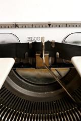Word BLOG written on an old typewriter