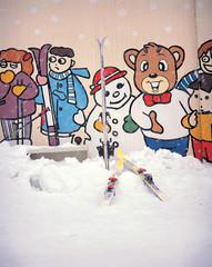 스키와 벽화