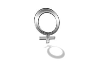 Piktogramm Frau / Woman / Silbern