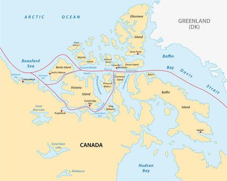 northwest passage map