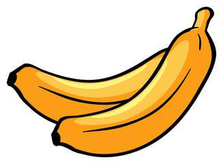 Two ripe bananas