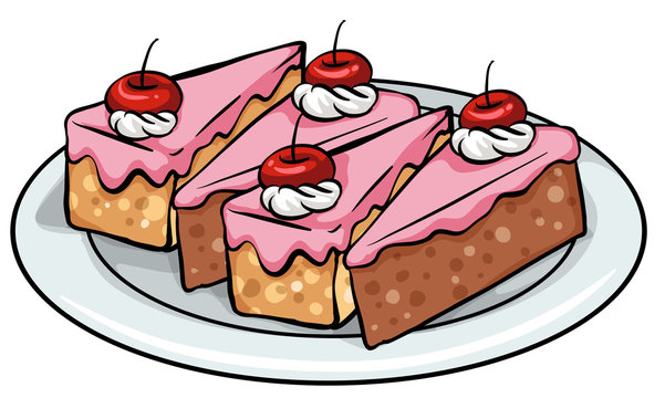 Plate of cakes
