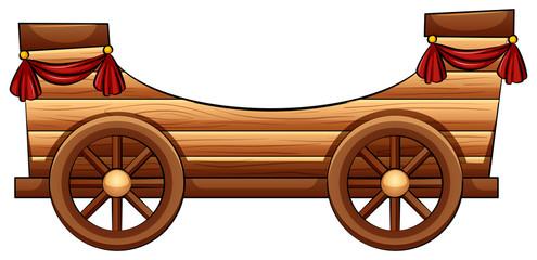 Improvised wooden bandwagon
