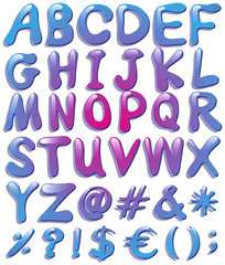 Colourful big letters of the alphabet