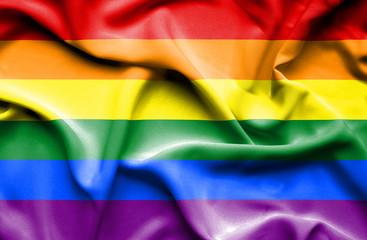Gay (Pride) waving flag