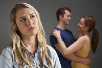 Woman Jealous Of Loving Couple