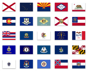 Usa State  Flag Collection-Part 1