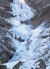 겨울 폭포 풍경