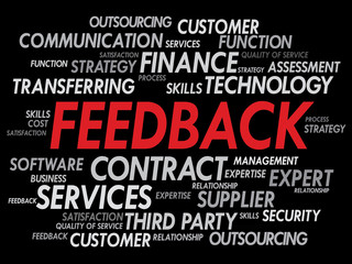 Feedback Words Cloud, business concept