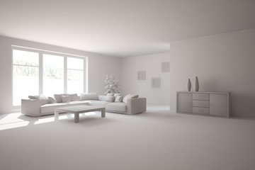 abstract grey interior