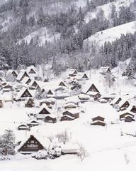 겨울 마을 풍경