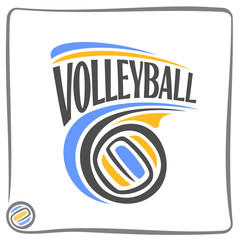 Abstract background on the volleyball theme