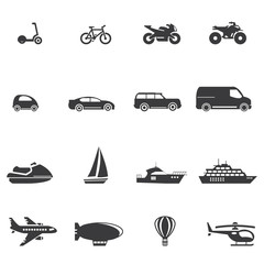 Transport And Vehicle Icon Set